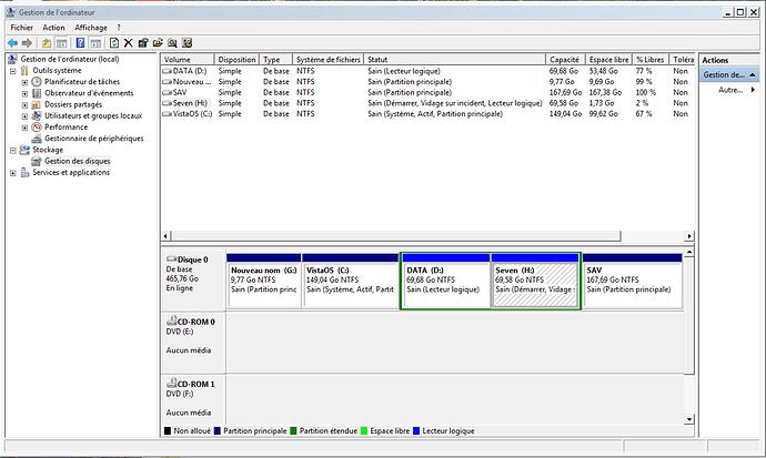 Capture disques PC portable