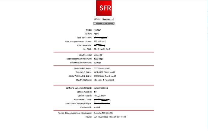 Capture Routeur SFR